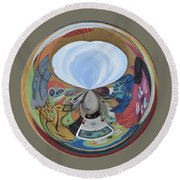 Weird Orb II Round Beach Towel