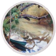 Wekiva Autumn Round Beach Towel