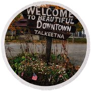 Welcome ... Round Beach Towel