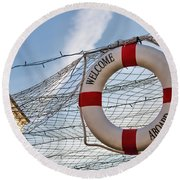 Welcome Aboard Round Beach Towel