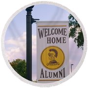 Welcome Home Banner Round Beach Towel