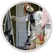Welcome To Key West Neighbor Round Beach Towel