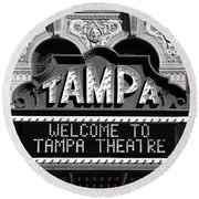 Welcome Tampa Round Beach Towel