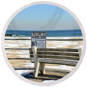 Welcome To Asbury Park Round Beach Towel