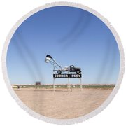 Welcome To Coober Pedy Round Beach Towel