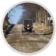 Welcome To Elkart County Round Beach Towel