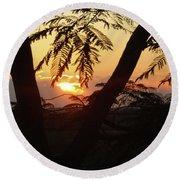 Welcome To Jamaica 7 Rise   Round Beach Towel