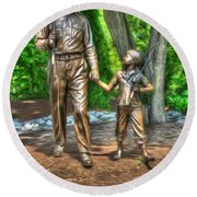 Welcome To Mayberry Round Beach Towel by Dan Stone