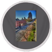 Welcome To Rochester Round Beach Towel