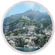 Welcoming Positano Round Beach Towel