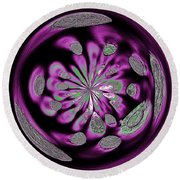 Welding Rods Abstract 5 Round Beach Towel