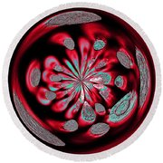 Welding Rods Abstract 6 Round Beach Towel