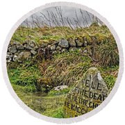 Well Of The Dead Round Beach Towel