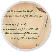Well To Remember Round Beach Towel by Elaine Plesser