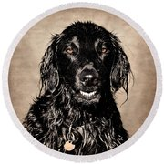 Well You Did Ask For My Best Portrait Smile Round Beach Towel