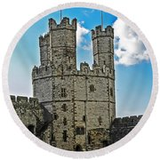 Welsh Castle Round Beach Towel