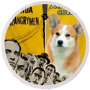 Welsh Corgi Pembroke Art Canvas Print - 12 Angry Men Movie Poster Round Beach Towel