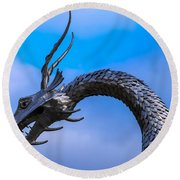 Welsh Dragon Head Round Beach Towel