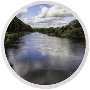 Welsh River Scene Round Beach Towel