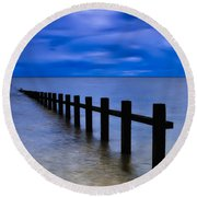 Welsh Seascape Round Beach Towel by Adrian Evans