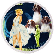 Welsh Springer Spaniel Art Canvas Print - The Seven Year Itch Movie Poster Round Beach Towel