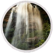 Wentworth Waterfall Blue Mountains Round Beach Towel