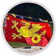 Wessex Wyvern Flag Round Beach Towel