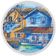 West Cape May Nj Round Beach Towel