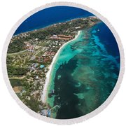 West End Roatan Honduras Round Beach Towel