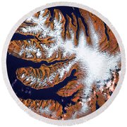 West Fjords Round Beach Towel