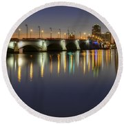West Palm Beach At Night Round Beach Towel