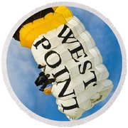 West Point Sky Diver Round Beach Towel