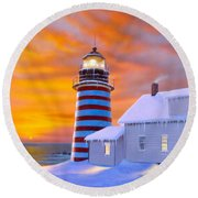 West Quoddy Round Beach Towel