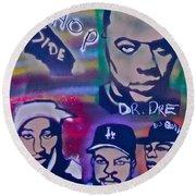 West Side Hip Hop Round Beach Towel