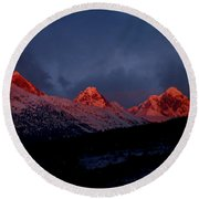 West Side Teton Sunset Round Beach Towel