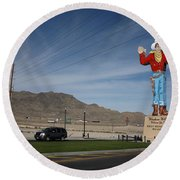 West Wendover Nevada Round Beach Towel by Frank Romeo