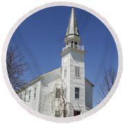 Westerlo Church Round Beach Towel