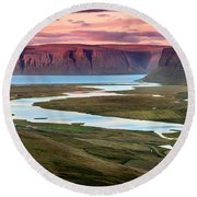 Westfjords Round Beach Towel