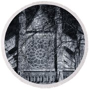 Westminster Abbey North Transept Round Beach Towel