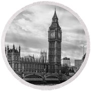 Westminster Panorama Round Beach Towel