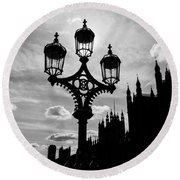 Westminster Silhouette Round Beach Towel