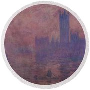 Westminster Tower Round Beach Towel