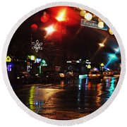 Wet City Round Beach Towel
