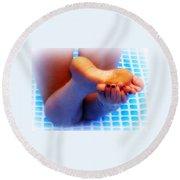 Wet Feet 2 Round Beach Towel