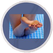 Wet Feet Round Beach Towel