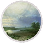 Wet Meadow Round Beach Towel