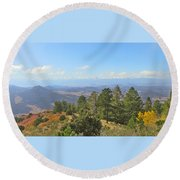 Wet Mountain Valley And Beyond Round Beach Towel
