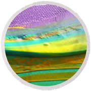 Wet Paint 1 Round Beach Towel
