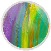 Wet Paint 8 Round Beach Towel