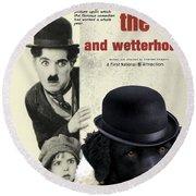 Wetterhoun-frisian Water Dog Art Canvas Print - The Kid Movie Poster Round Beach Towel